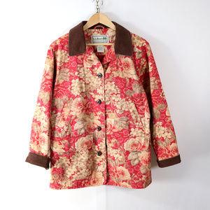 vintage l.l.bean floral barn coat M petite